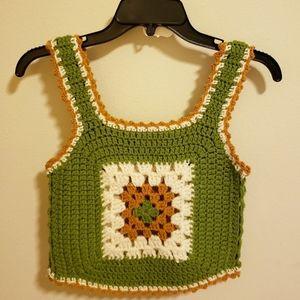 Vintage Crocheted Vest